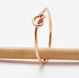 Gold Knot Ring: 14K Yellow Gold Filled, Valentines Gifts for Her