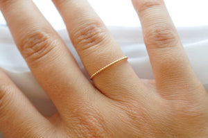 Rope Ring: 14K Yellow Gold Filled Band, Inexpensive Valentines Day Gifts