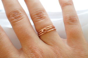 Best Valentines Day Gifts: Yellow Gold Filled Knot Ring, Gold Bands