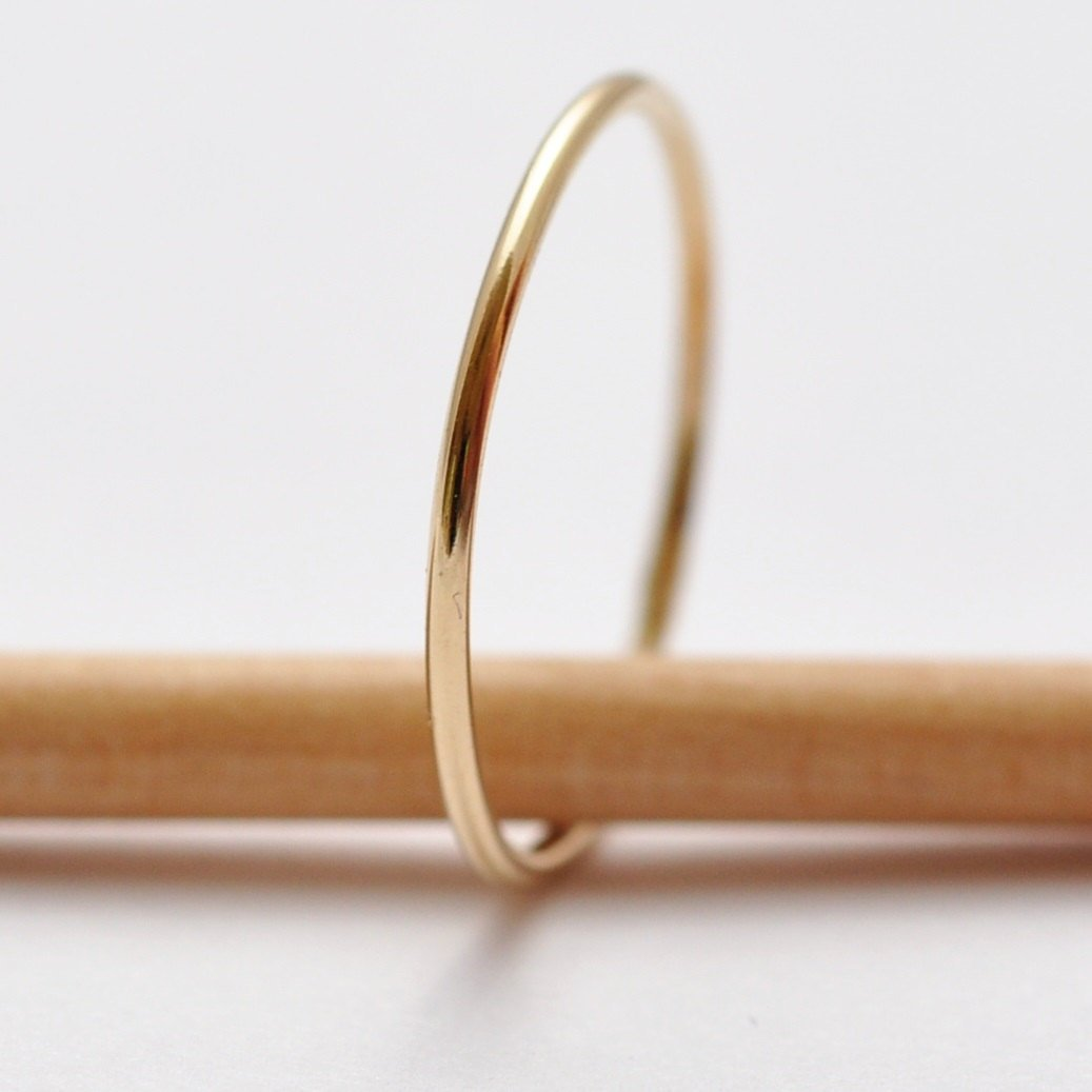 Solid Gold Wedding Band: Thin 14K Rings, Gifts under 100