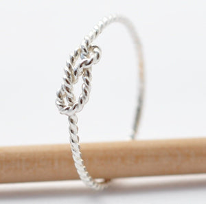 Infinity Ring: Twisted Silver Knot, Gifts for Friends Under 20