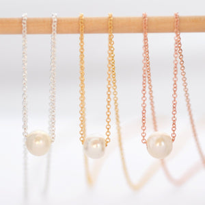 Natural Pearl Drop Necklace: Pretty Valentines Day Gifts for Girlfriend