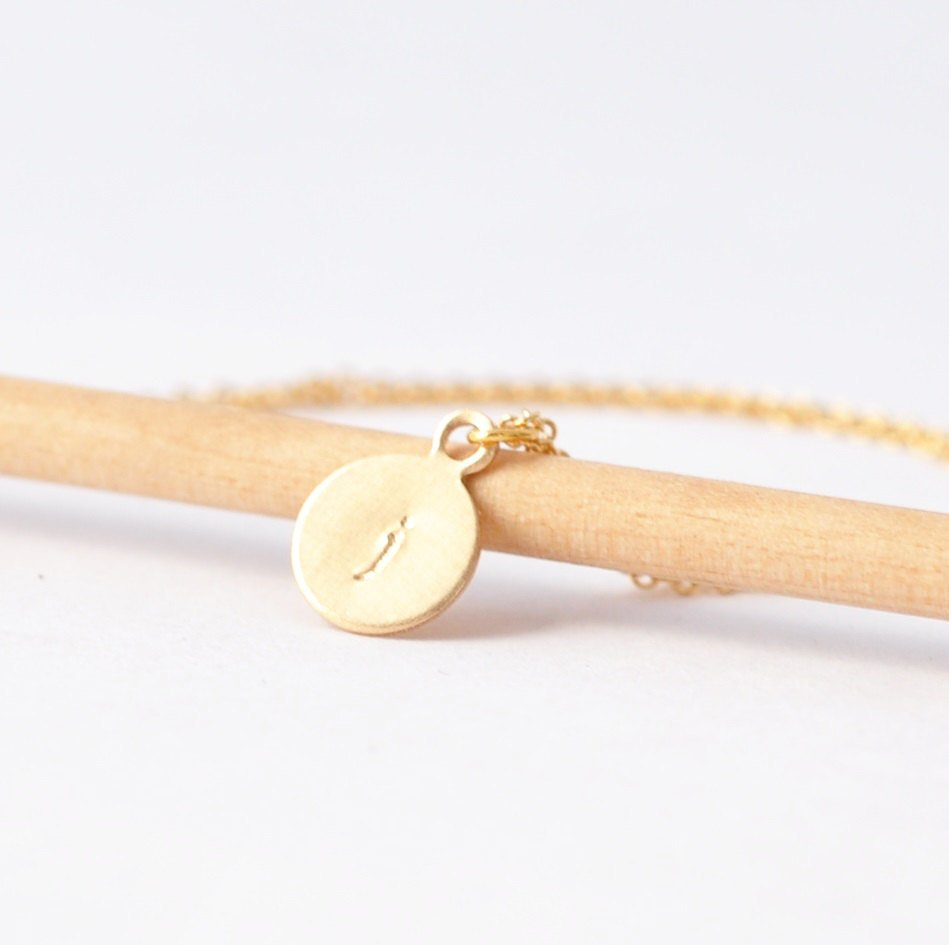 Gold Charm Necklace: Letter Pendant, Customized Gifts for Her