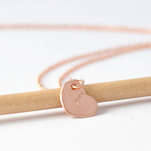 Heart Pendant: Rose Gold Filled Personalized Necklace, Custom Valentines Gifts