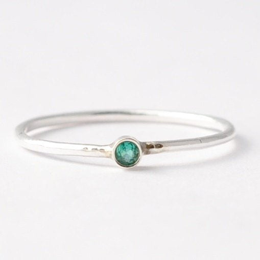 Emerald Rings: Natural Emerald & Silver, Best Valentines Day Gifts