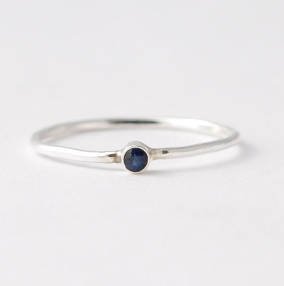 Birthstone Rings: Blue Sapphire & Silver, Good Valentines Day Gifts