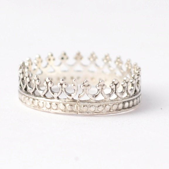 Princess Ring: Silver Crown Ring, Affordable Gifts for Teens