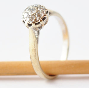 Engagement Rings: Vintage Diamonds & 9K Gold, Size 5