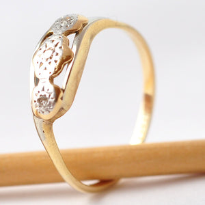 Estate Diamond Rings: Antique 18K Gold, Size 8.25/8.5