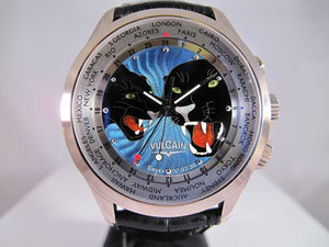 Vulcain Cloisonne ''The Panthers'' Limited Edt. 30
