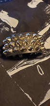 Load image into Gallery viewer, Three row cone stud leather cuff