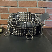 Load image into Gallery viewer, 5 row studded leather bondage belt