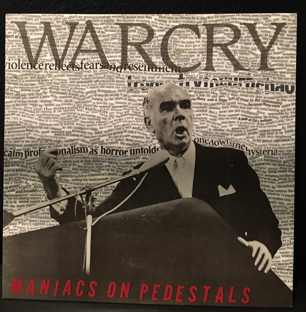 Warcry - Maniacs on Pedestals LP