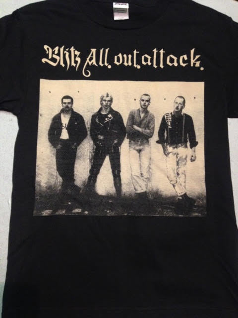 Blitz All Out Attack Band Picture T-Shirt