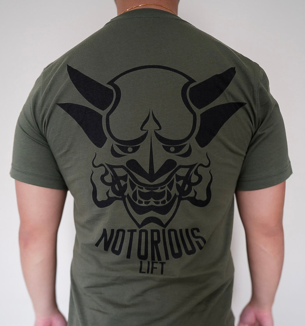 Premium Notorious Lift Tee (Olive Green)