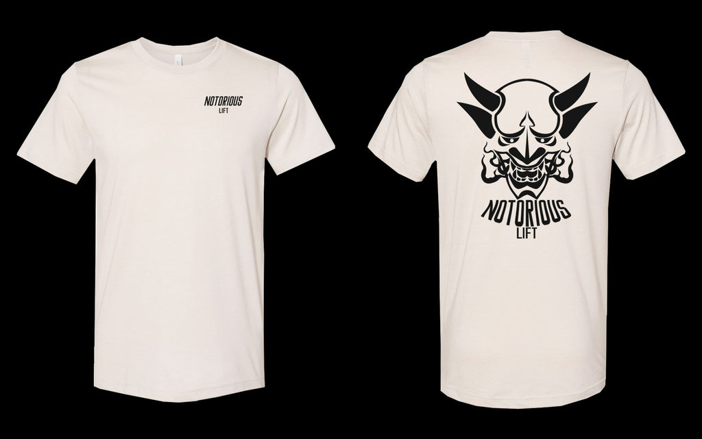 Premium Notorious Lift Tee (Cream/Black)