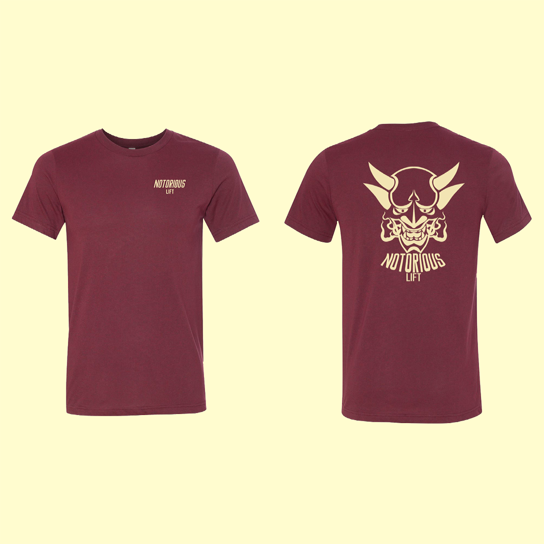 Premium Notorious Lift Tee (Maroon)