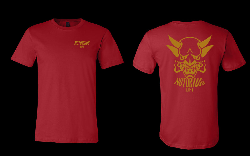 Premium Notorious Lift Tee (Red/Gold)