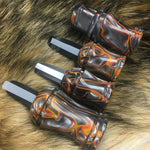Custom acrylic 4 Predator call set with Red River Calls Lanyard