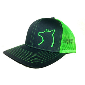 Charcoal / Neon Green Snap Back Hat