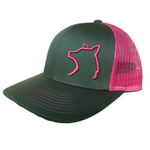 Charcoal / Neon Pink Snap Back Hat