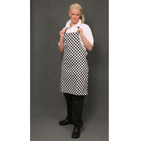 Bib Apron Black/White Check
