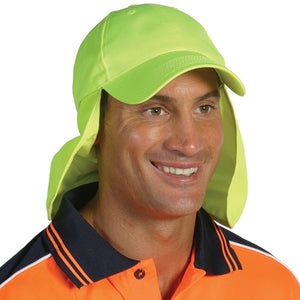 H023-HiVis Cap with Flap