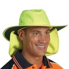 H055-HiVis Hat with Flap