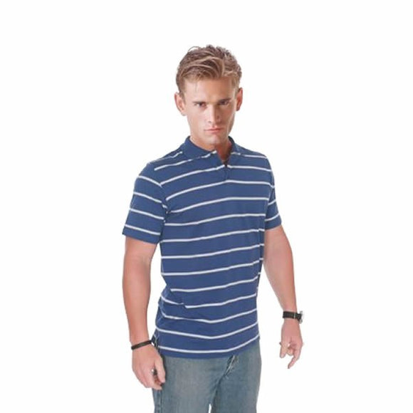 BSP5600 Cotton Jersey Knit Striped Polo
