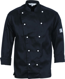 Traditional Chef Jacket 10 Button Black