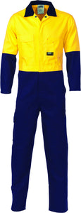 3852-HiVis Cotton Coverall