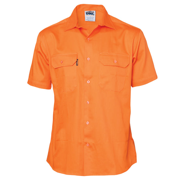 3201 - Cotton Drill Work Shirt, Short Sleeve