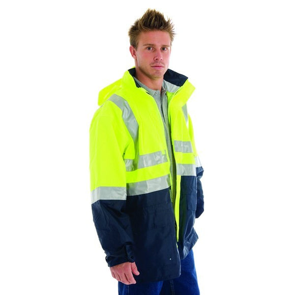 3867-HiVis Two Tone Breathable Jacket 3M Reflective Tape