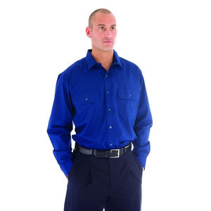 3212-Polyester Cotton Work Shirt - Long Sleeve