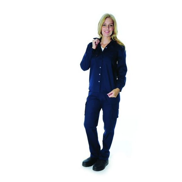 3232-Ladies Cotton Drill Work Shirt, Long Sleeve