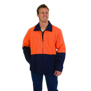 3868- HiVis Two Tone Protector Drill Jacket