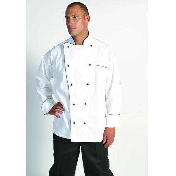 Classic Chef Jacket with Black Piping