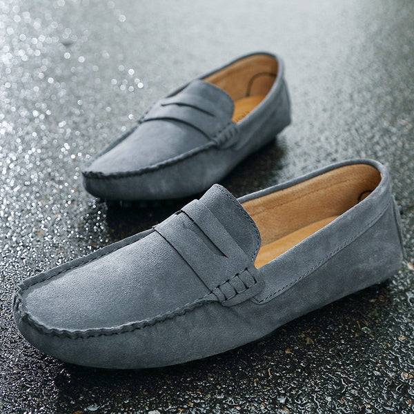 Loafers Fashion Men Loafers Suede Leather Zicowa