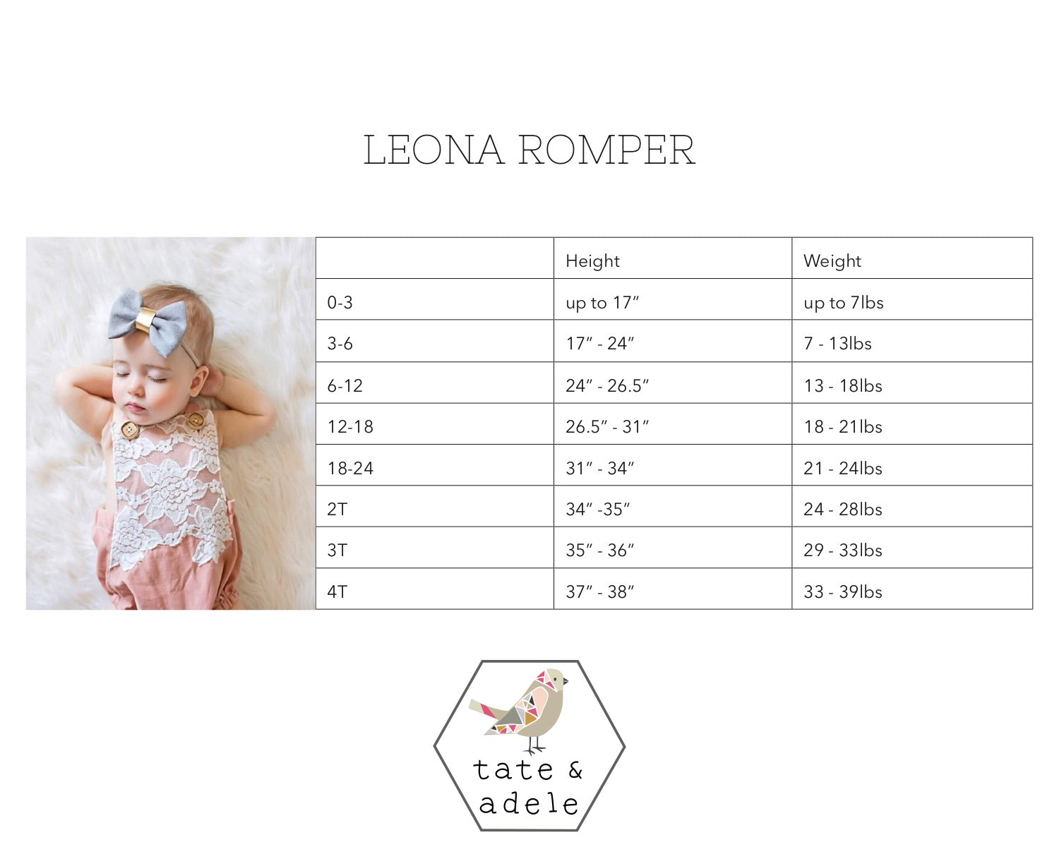The Leona Romper by Tate & Adele