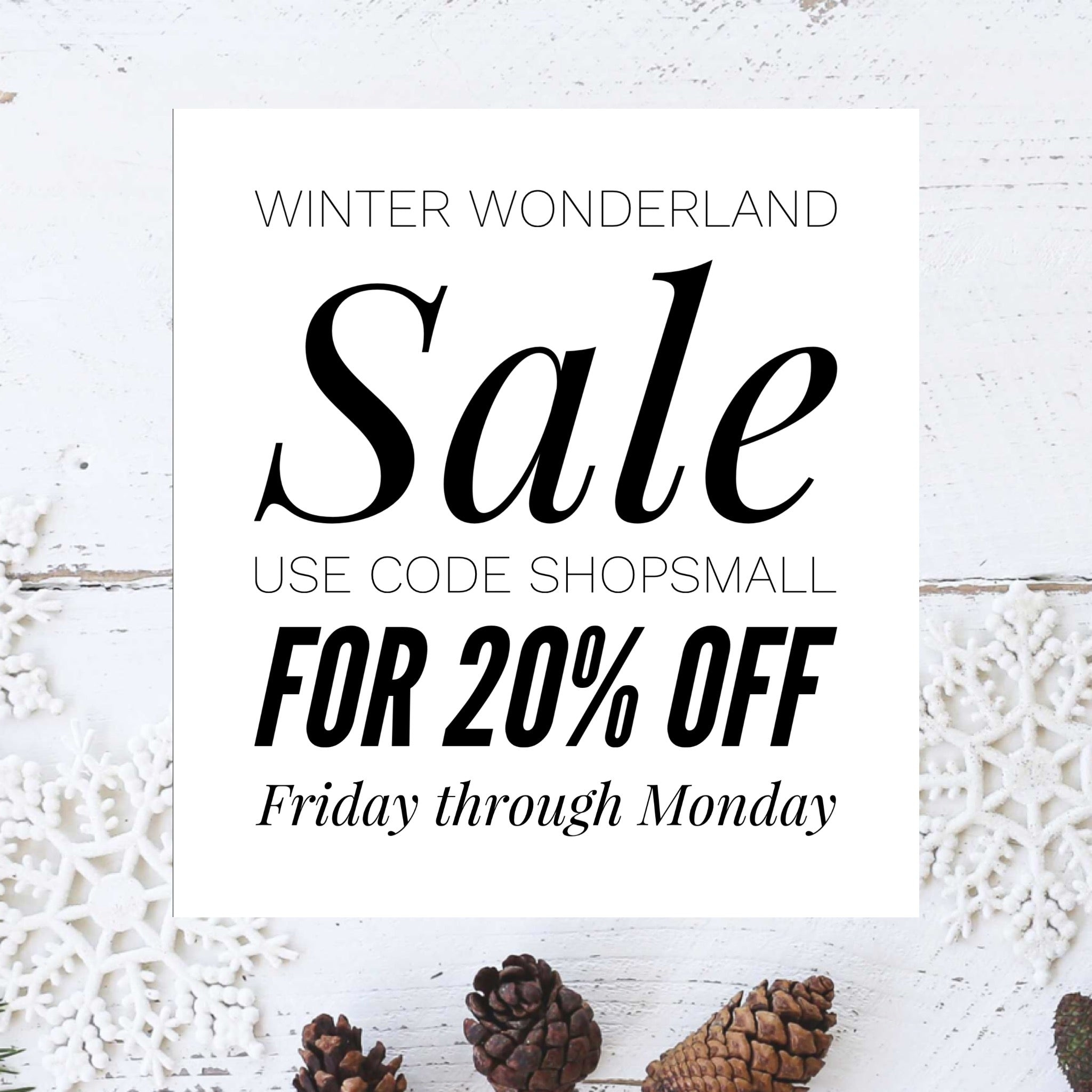 Winter Wonderland Sale Tate & Adele