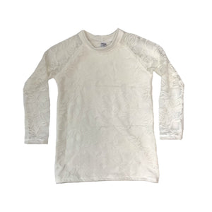 Ivory Lace Lined Long Sleeve kids Top