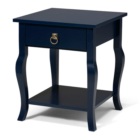 Side Table, Contemporary, Navy Blue