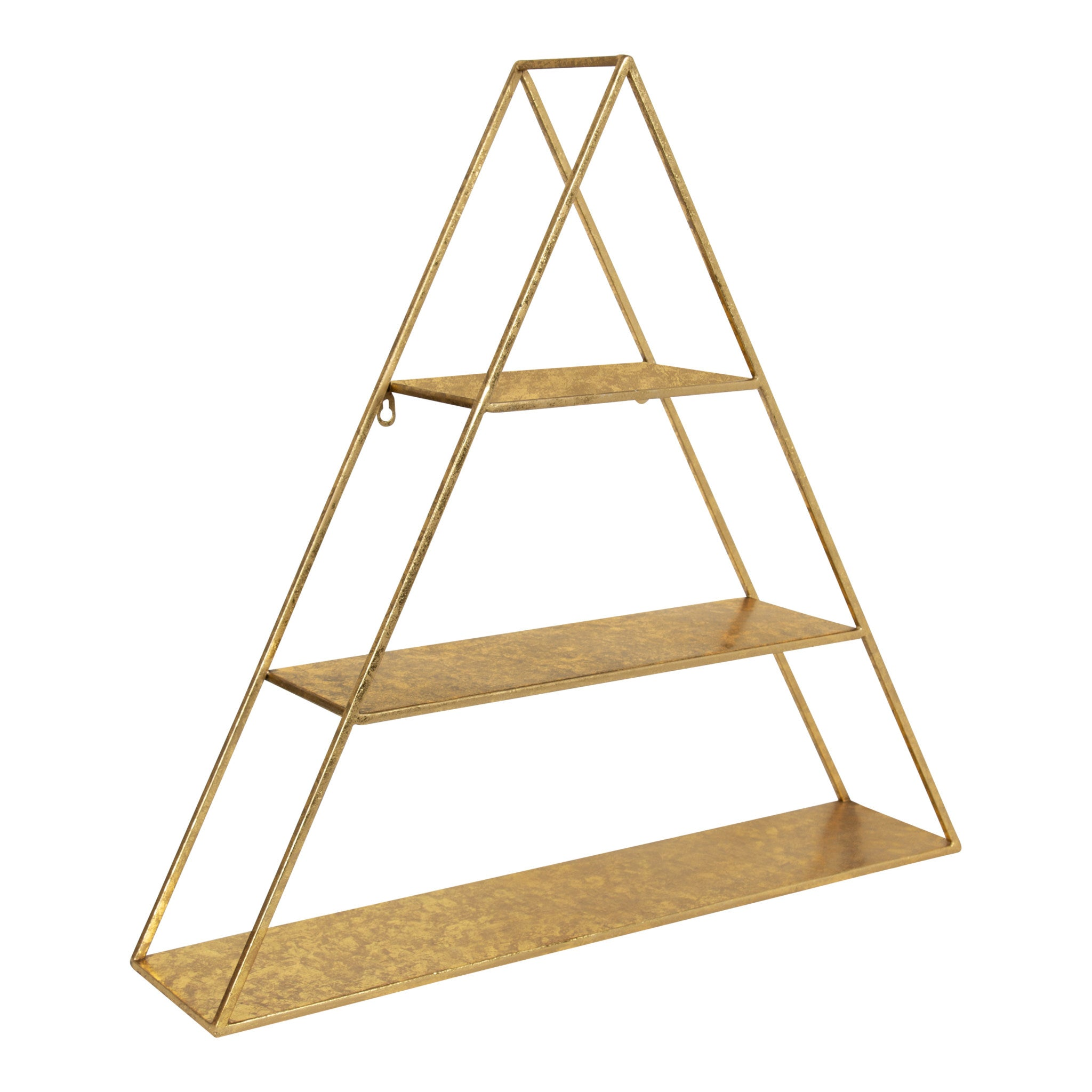 Accent Shelf, Contemporary, Gold