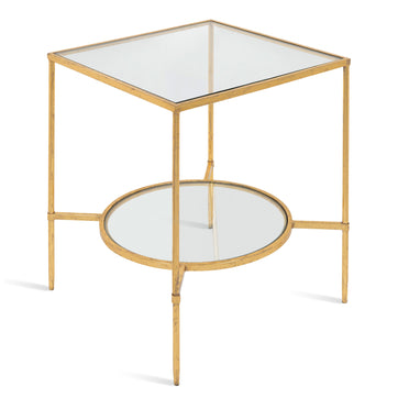Side Table, Contemporary, Gold