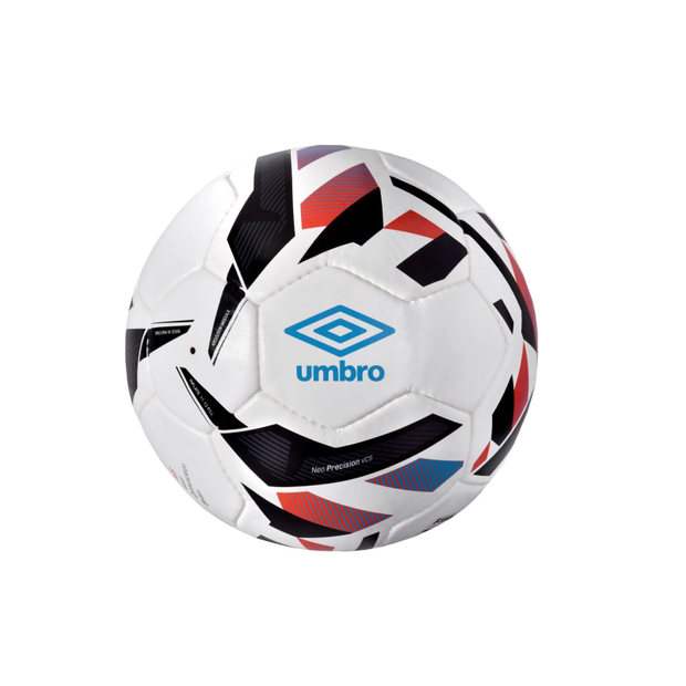 Umbro Neo Precision Match Ball (White/Ibiza Blue/Black/Cherry Tomato) - Umbro South Africa