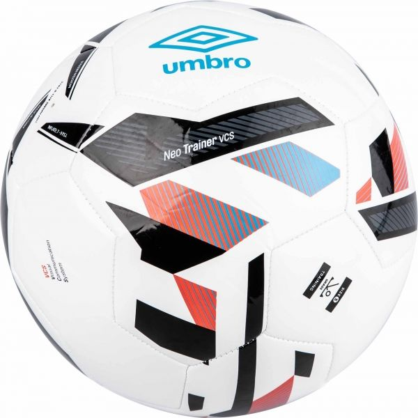 Umbro Neo Trainer Ball - (White/Ibiza Blue/Black/Cherry Tomato) - Umbro South Africa