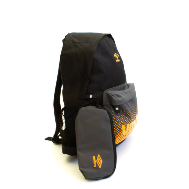 Umbro BTS Backpack/Pencil Case - (Black/Castlerock/Bright Marigold) - Umbro South Africa