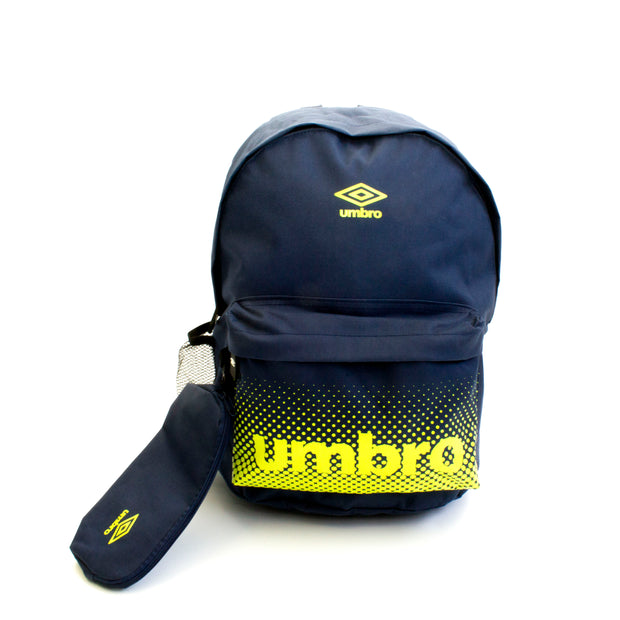Umbro BTS Backpack/Pencil Case - (Peacoat/Acid Lime) - Umbro South Africa