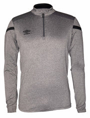 Umbro Half Zip Top - Charcoal/Black - Umbro South Africa
