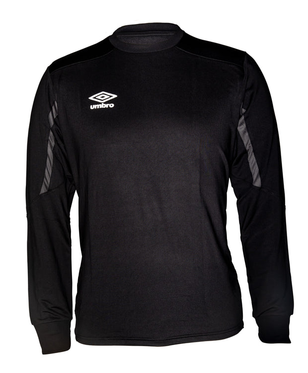 Umbro Poly Sweat Crew Top - Black/Charcoal - Umbro South Africa